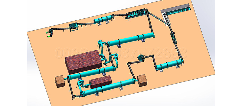 20t per hour drum granulation plant layout