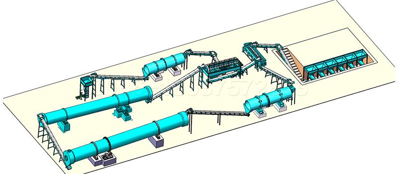 NPK Drum Granulation Line